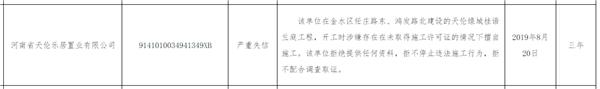 """拒不停工、拒不配合 河南天倫地產一公司嚴重失信被""""拉黑"""""""